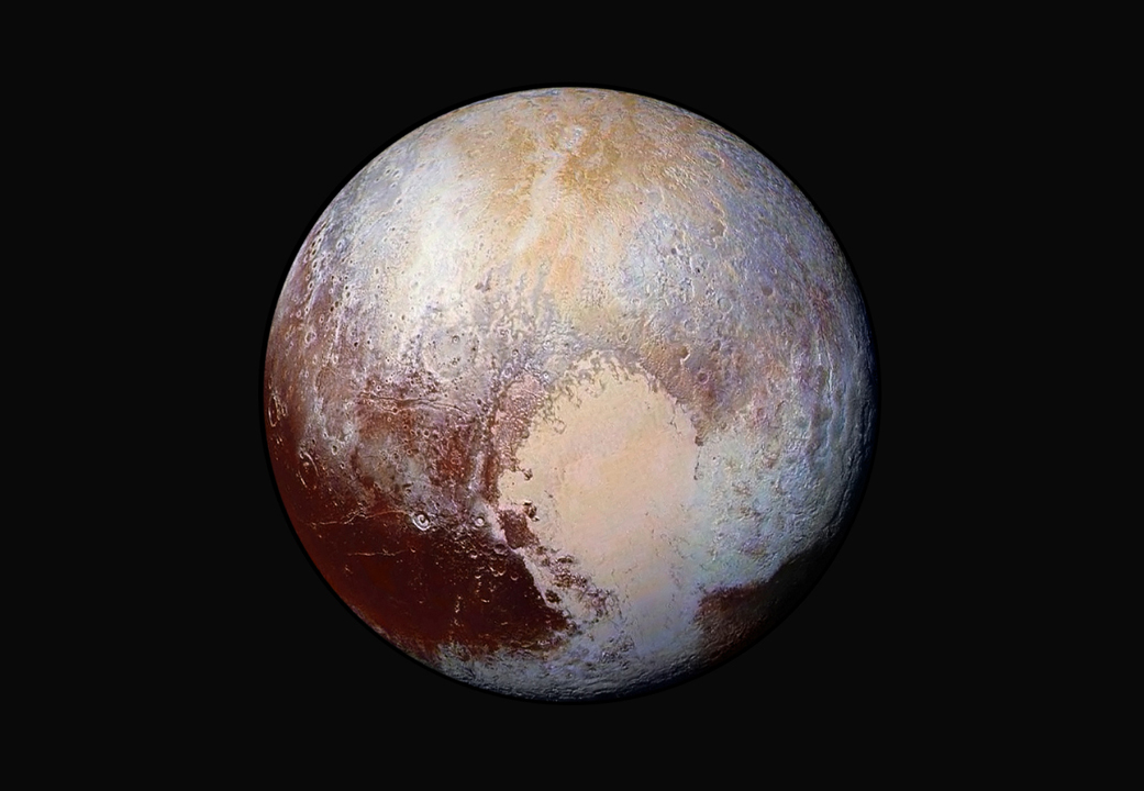 First ever false colour photograph of Pluto