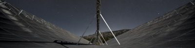 The CHIME radio telescope in Canada |  Canadian Hydrogen Intensity Mapping Experiment (CHIME).