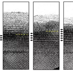 The first in situ observation of layered metastable heterostructure formation